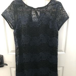 Navy/Black lace dress